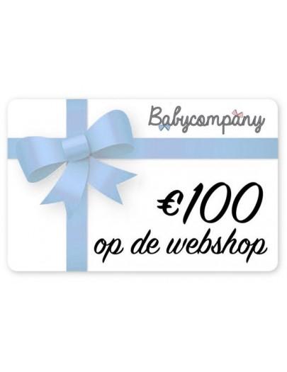 Cadeaubon webshop 100 EUR