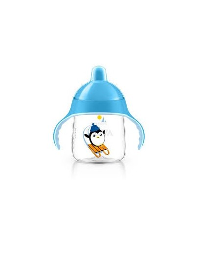AVENT DRINKBEKER ANTI-LEK 260ML PINGUIN BLAUW