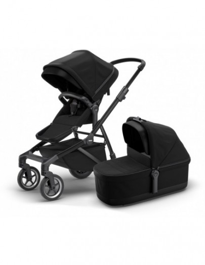 THULE SLEEK+ BASSINET BLACK ON BLACK
