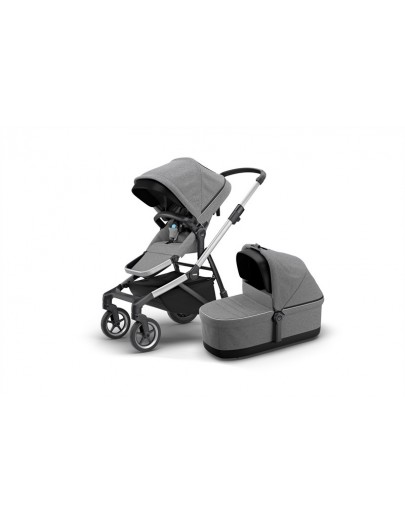 THULE SLEEK+ BASSINET GREY MELANGE
