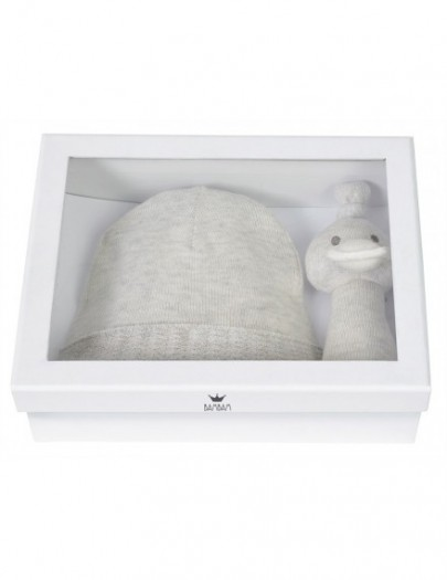 BAMBAM GIFT BOX KNITTED HAT+ DUCK RATTLE