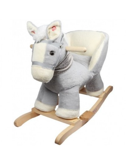 TRYCO ROCKING CHAIR PAARD MAE GRIJS