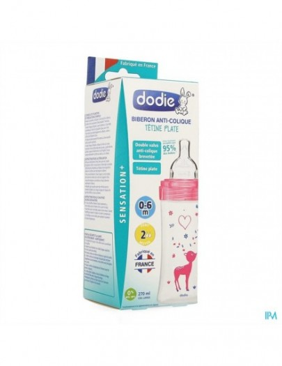 DODIE FLES SENSATION BREED 270ML ROZE