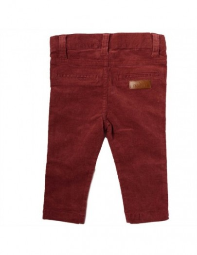 NATINI BROEK RIB BORDEAUX