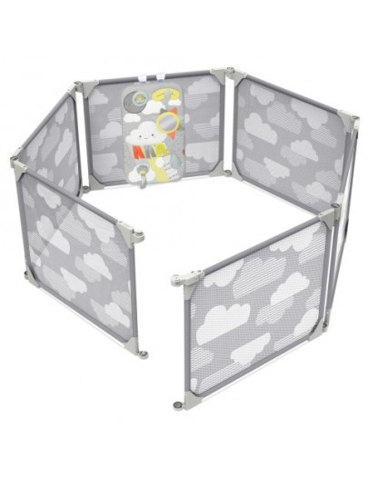 SKIP HOP PLAYVIEW EXPANDABLE ENCLOSURE GREY CLOUDS