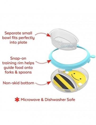 SKIP HOP SMART SERVE PLATE AND BOWL SET BEE