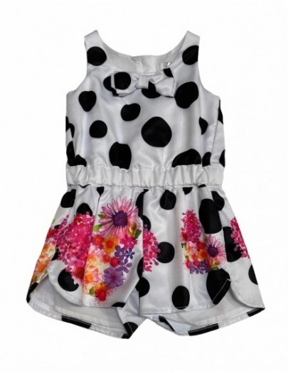 FUN&FUN PLAYSUIT WIT/ZWART