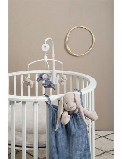 BABY'S ONLY MUZIEKMOBIEL SENSE VINTAGE BLUE- KIEZELGRIJS- WIT
