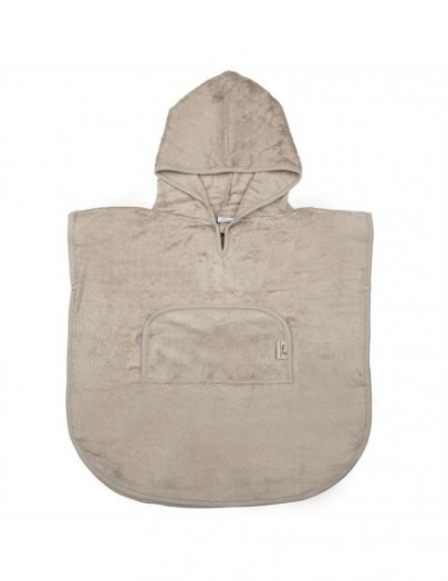 TIMBOO PONCHO V-HALS FEATHER GREY
