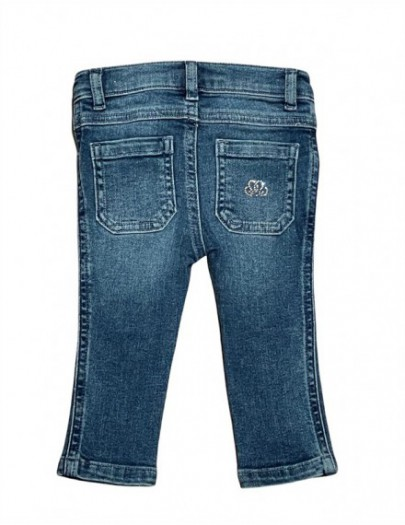 NATINI JEANS MIDDLE BLUE STRASS